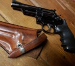 Smith and Wesson Springfield  .357 Magnum Revolver  w/lefty Bianchi Leather Holster $800.00 O.B.O.