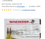 Winchester 223  45 grain. 40 rounds