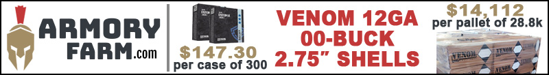 Armory Farm | Venom 12 GA Shotgun Shells 00-Buck 2.75 in
